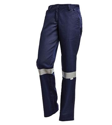 ladies cotton drill work pants with reflective tape Manufacturers in India