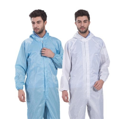 Viscose Plain Anti Static Coverall For Laboratory