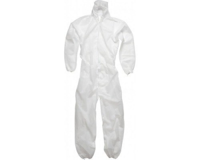 White Disposable Non Woven Coverall