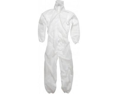 White Disposable Non Woven Coverall